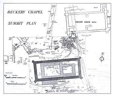 Philip Rahtz's excavation plan