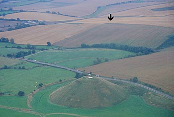 Silbury Hill from the air.