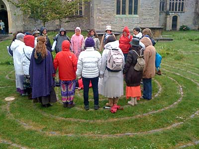 Cermony in the Glastonbury Tercentennial Labyrinth