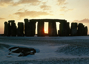 Winter Solstice Sunset at Stonehenge