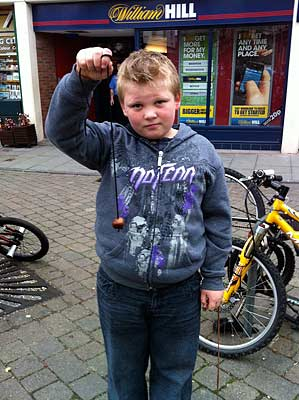 Boy with COnker